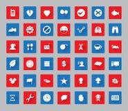 O ícone variado ajustou-se com quadro quadrado para a Web e #03 móvel Fotos de Stock Royalty Free