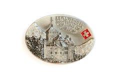 O ímã da lembrança - Castelo de Chillon em Montreux em Switzerl imagem de stock royalty free
