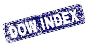 O ÍNDICE do DOW do Grunge moldou o selo arredondado do retângulo ilustração royalty free
