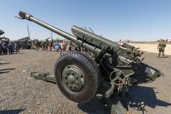 122 o índice soviético 2A18 dos obus D-30A GRAU do milímetro é uns obus soviéticos que incorporem primeiramente o serviço ao 1960 foto de stock