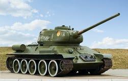 O ò tanque T34 do russo da guerra de mundo fotografia de stock royalty free