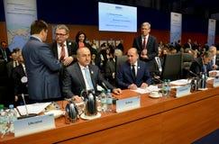 o 2ó Conselho ministerial do OSCE em Hamburgo Foto de Stock Royalty Free