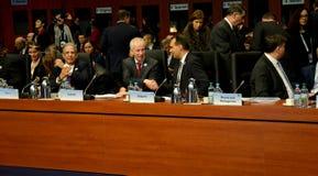 o 2ó Conselho ministerial do OSCE em Hamburgo Foto de Stock
