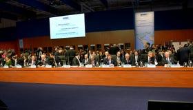 o 2ó Conselho ministerial do OSCE em Hamburgo Fotos de Stock Royalty Free