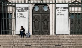 O ódio prejudica a alma fotos de stock