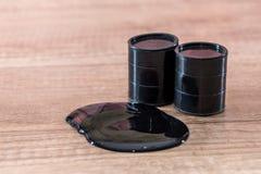o óleo derramou o tambor Foto de Stock
