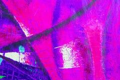O óleo e o acrílico originais da arte abstrato colorem a pintura na lona ilustração do vetor
