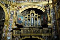 O órgão no templo de Incoronata no centro da cidade em Lodi em Lombardy (Itália) Fotografia de Stock