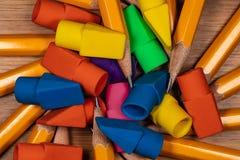 Ołówek gumki i punkty Obraz Royalty Free