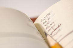 Ołówek i agenda Zdjęcie Royalty Free