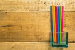 Ołówek na drewnie Obraz Royalty Free