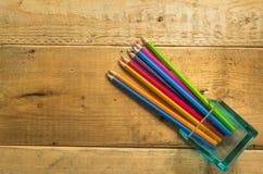 Ołówek na drewnie Obrazy Royalty Free