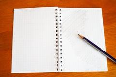 Ołówek na notatniku Zdjęcie Stock