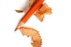 ołówek pojedyncze wióry Zdjęcia Royalty Free