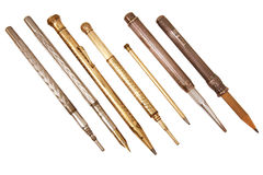 ołówków piór rocznik Obrazy Royalty Free