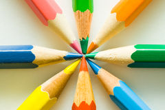 ołówki barwy zdjęcie royalty free