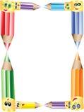 Ołówki Granica lub Rama Obrazy Royalty Free