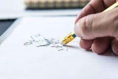 Ołówkowa gumka Fotografia Stock