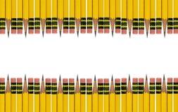 Ołówkowej gumki granica Fotografia Stock