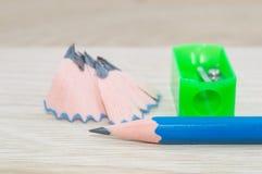 Ołówkowej ostrzarki golenia dalej Zdjęcie Stock