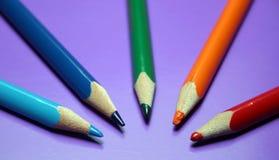 Ołówkowi kolory Zdjęcia Stock