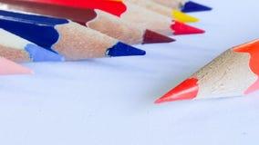 Ołówkowy kolor na tle Zdjęcia Royalty Free