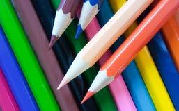 Ołówkowy kolor na tle Obrazy Stock