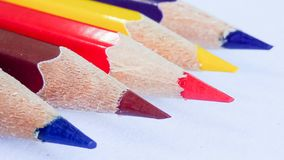 Ołówkowy kolor na tle Fotografia Royalty Free