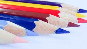 Ołówkowy kolor na tle Zdjęcie Stock