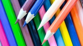 Ołówkowy kolor na tle Obraz Royalty Free