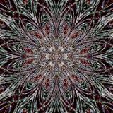Ołówkowy linii gwiazdy kwiatu zmroku arabesk Fotografia Stock