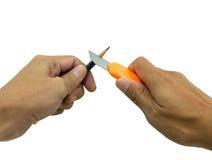 Ołówkowy ostrzenie Zdjęcie Stock