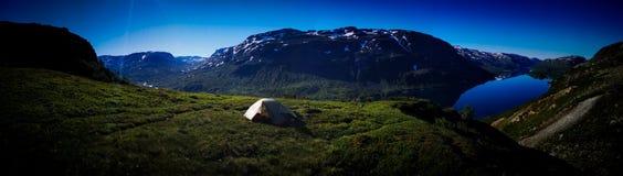 O último acampamento fotografia de stock