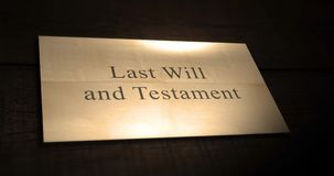 O último a animação de papel e do testamento