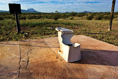 O último Crapper do penhasco o Arizona Imagem de Stock Royalty Free