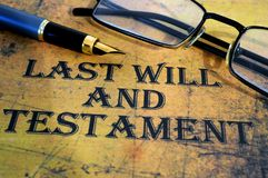 O último e testamento foto de stock royalty free