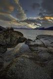 O último nascer do sol de Alaska de 2015 Imagem de Stock Royalty Free