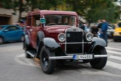 O último reabastecimento - veículos que encontram-se, Pezinok do veterano, Eslováquia Fotografia de Stock