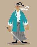 O último samurai Ilustração Stock