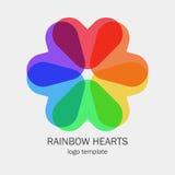 O único logotipo conceptual com um coração dá forma Fotos de Stock Royalty Free