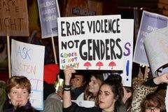O único março das mulheres na recuperação de Londres a noite 2014 Foto de Stock