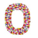 O, буква алфавита в различных цветках Стоковые Изображения RF