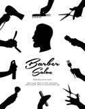 o Волосы красоты и салон парикмахерских услуг Красота людей волос, бороды и усика иллюстрация штока