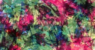 o Красочная текстура grunge Brushstrokes краски Краска брызгает стоковая фотография rf