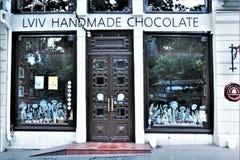 o Магазин и кафе chocolaterie Львова стоковая фотография rf