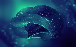o Мозг цифров Разум компьютера иллюстрация 3D кибер-будущего иллюстрация вектора