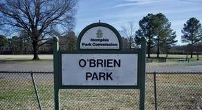 O 'Brien Park, Stad van Memphis Park Service royalty-vrije stock foto
