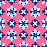 o 与抽象花的五颜六色的女孩印刷品 r 桃红色,紫色,黑,蓝色 皇族释放例证