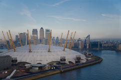 O2竞技场在伦敦 免版税库存图片