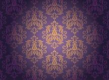 χρυσό διακοσμητικό πρότυπ&o Στοκ Εικόνα